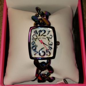 Betsey Johnson lovely links rainbow watch
